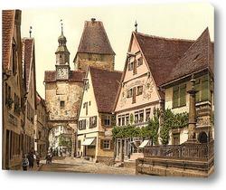 Картина Башня Святого Марка, Ротенбург (т.е. об-дер-Таубер), Бавария, Германия. 1890-1900 гг