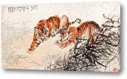 Тигры в кустах