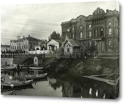 Картина Тарасовская набережная,Екатеринбург,1880 годы