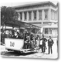 Картина Первая канатная дорога в Сан-Францискко,1873г.