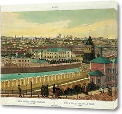 Картина Вид части города, снятый с Кремлевской стены. Видна церковь Благовещения на Житном дворе в Кремле 18