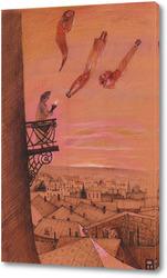 Картина C первыми лучами солнца улетают ночные мЕчты