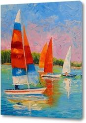 Картина Парусники на реке
