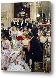 Картина Вечеринка(у рояля автор)