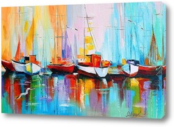 Картина Лодки у пристани