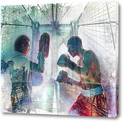 Картина Спарринг по боксу