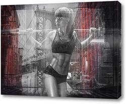 Картина Тренировка в Манхэттене