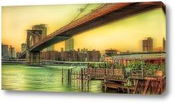 Картина Brooklyn Bridge NYC New - York, manhattan,