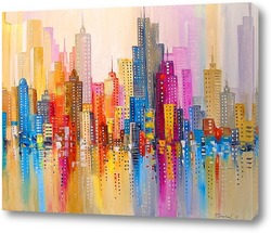 Картина Радужный город