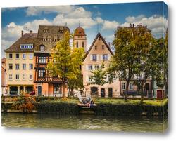 Картина Страсбург,городской пейзаж