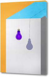 Картина Геометрический натюрморт с Тенью от фиолетовой лампочки