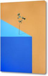 Картина Геометрический натюрморт с веткой растения