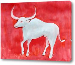 Картина Белый бык