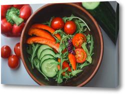 Картина Салат из свежих овощей