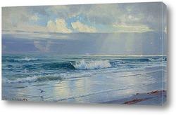 Картина Волны вдоль берега моря (штат Род-Айленд)