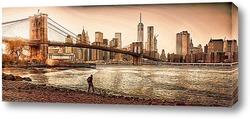 Картина осенний Манхэттен
