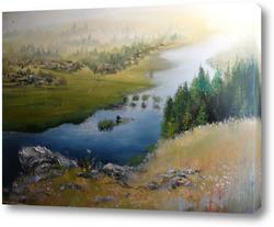 Картина Утро над Чусовой