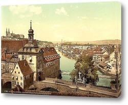 Картина Бамберг, Бавария, Германия.1890-1900 гг