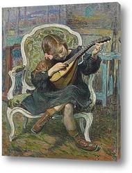 Маленький игрок мандолины (Марта Лебаск), 1905