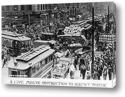 Картина Пробка в Чикаго, 1909г.