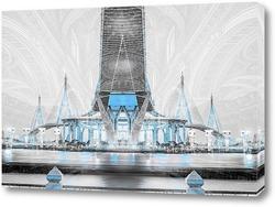 Картина Пумипона шоссе мост Сумерки
