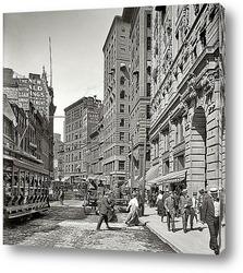 Картина Газетный ряд, Вашингтон-стрит, 1906