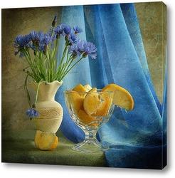 Картина Лимонно-васильковый