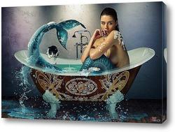 Русалка в ванной.