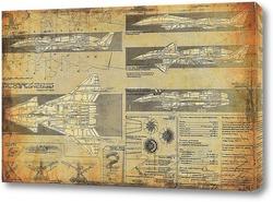 Картина Схема самолета