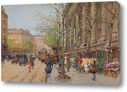 Цветочный рынок на площади Мадлен