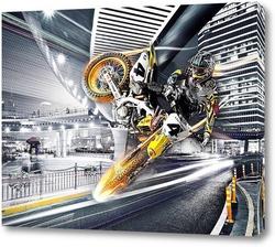 Картина Мотоспорт в городе