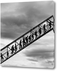 Картина Лестница в небо (чб)