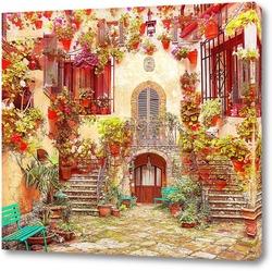 Картина Архитектура в цветах