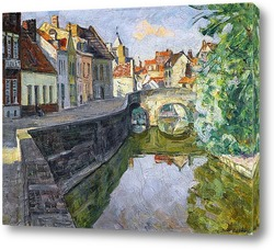 Картина Канал в Брюгге.