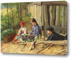 Картина Дети, плетущие венок