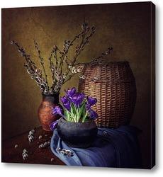 Картина Весна старого чугунка