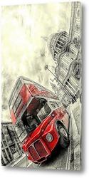Картина Красный автобус