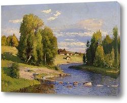 Летний пейзаж с рекой