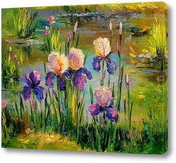 Картина Ирисы у пруда