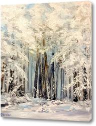 Картина Зима в лесу