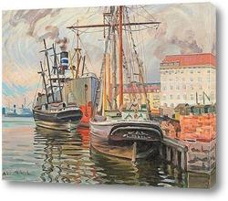 Картина Гавань в Хельсинки