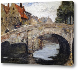 Картина Старый мост в Брюгге