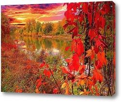 осень у озера