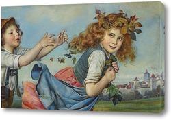 Картина Игра детей в стенах города