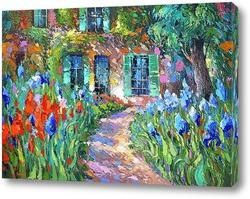 Картина Ирисы у дома