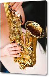 Картина Золотистый саксафон