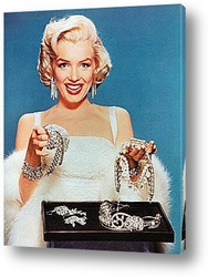 Картина Мерелин  Монро с бриллиантовым ожерельем.