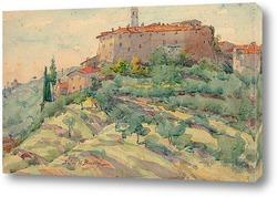 Итальянский пейзаж с замком