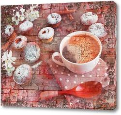 Картина Кофе и кексы