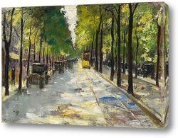 Картина Берлинер штрассе в солнечном свете